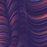 Vector warped lines background. Flexible stripes twisted as silk forming volumetric folds. Colorful stripes Stock Photo
