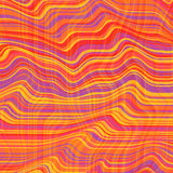 Vector warped lines background. Flexible stripes twisted as silk forming volumetric folds. Colorful variable width Royalty Free Stock Photo