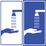 Vector wash your hands sign, Illustration EPS10. Great for any use stock illustration