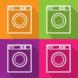 Vector washing machine flat icon. isolated Royalty Free Stock Photos