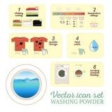 Washing powder icon set royalty free illustration