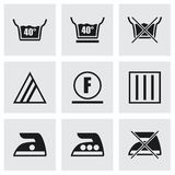 Vector Washing signs icon set Stock Photography