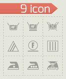 Vector Washing signs icon set Royalty Free Stock Images