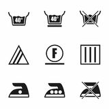 Vector Washing signs icon set Royalty Free Stock Image