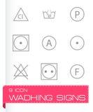 Vector washing signs icons set Royalty Free Stock Image