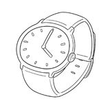 Vector of watch. Hand drawn cartoon, doodle illustration Royalty Free Stock Photography