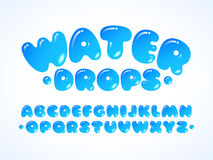 Vector water alphabet. Letters A-Z. Eps10. RGB Global colors royalty free illustration