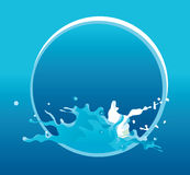 Vector water background. Blue water background - vector illustration Royalty Free Stock Photography
