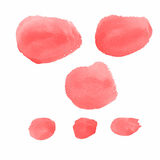 Vector water color red brushes  Stock Photography