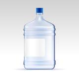 Vector water for cooler. Big transparent bottle for office. Water delivery. Vector water for cooler. Transparent bottle for office. Water delivery mock up Stock Images