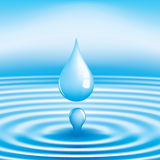 Vector water drop Stock Photo