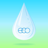 Vector water drop. Royalty Free Stock Photo
