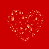 Vector of water drop in shape heart Stock Photo