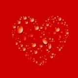 Vector of water drop in shape heart Stock Photo