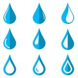 Vector Water Drops Icon Set Stock Photos