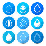 Vector Water Drops Icons Set Stock Photo