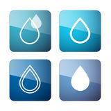 Vector Water Drops Symbols - Icons Set Royalty Free Stock Photography