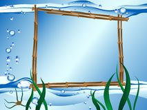 Vector water frame Royalty Free Stock Images