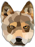 Vector polygonal dog. On a white background Royalty Free Stock Images