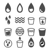 Vector of water icons set on white background. Vector of water icons set isolated on white background Royalty Free Stock Photos