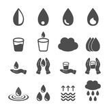 Vector of water icons set on white background. Vector of water icons set isolated on white background Royalty Free Stock Image