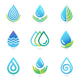Vector water and oil logo design elements Stock Photos