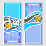 Vector Water Polo vertical banners Royalty Free Stock Photos