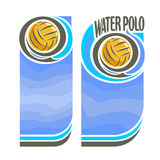 Vector Water Polo vertical banners for text Stock Image