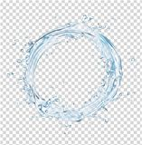 Vector water splash circle Royalty Free Stock Images