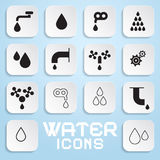 Vector Water Symbols Stock Images