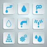 Vector Water Symbols - Icons Set Stock Image