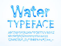 Vector water typeface Stock Photography