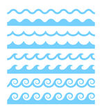 Vector water waves patterns Royalty Free Stock Photo