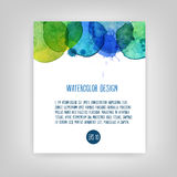 Vector watercolor abstract background Stock Photo