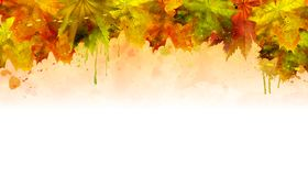 Vector watercolor autumn background royalty free stock images
