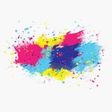 Color painterly centre yellow Stock Images