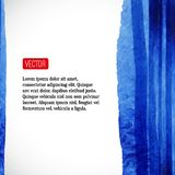 Vector watercolor background with red label Royalty Free Stock Photo