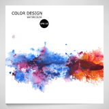 Vector watercolor background for textures and backgrounds. Abstract illustration Royalty Free Stock Photos
