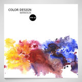 Vector watercolor background for textures and backgrounds. Royalty Free Stock Photography
