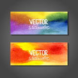 Vector watercolor banners. Abstract background Stock Images