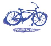 Vector watercolor bicycle Royalty Free Stock Images