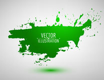 Vector watercolor blob. Abstract ink speech bubble. Stock Image
