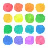 Vector Watercolor Blobs Set Stock Photos