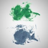 Vector watercolor blot banners. Grunge background Royalty Free Stock Image