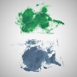 Vector watercolor blot banners. Grunge background vector illustration