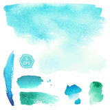Vector. Watercolor blots. Royalty Free Stock Images