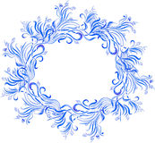 Vector watercolor blue floral frame Stock Photo