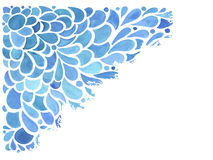 Vector Watercolor Blue Pattern Stock Images