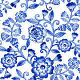 Vector watercolor blue texture pattern. Royalty Free Stock Photos