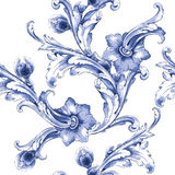 Vector watercolor blue texture pattern. Stock Photography